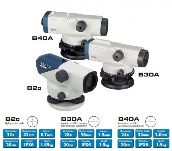Máy thủy bình Sokkia B Series (B20, B30A, B40A)